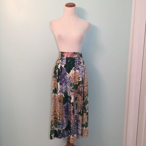Vintage JH Collectibles Floral Midi Skirt